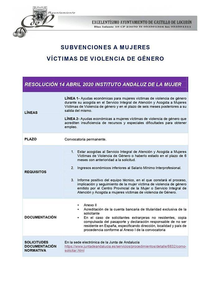 Imagen Ayudas Económicas de la Junta de Andalucía para Mujeres Víctimas de Violencia de Género